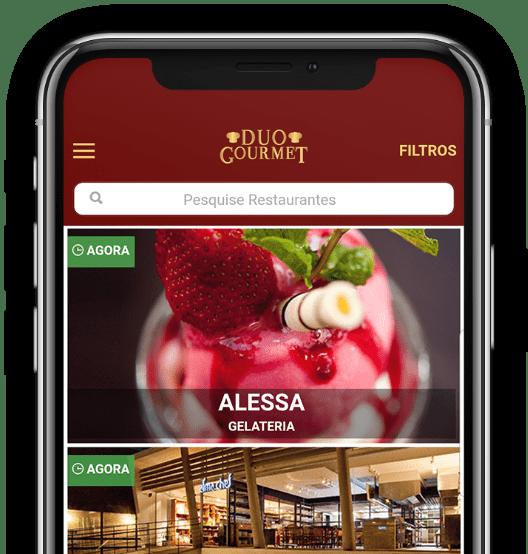Escolha um restaurante. Para facilitar, use o filtro.
